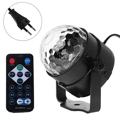Exing Disco-Kugel Kristall LED Bühnenlampe Party Nacht Licht Party Licht Party Voice-Steuerung Nior