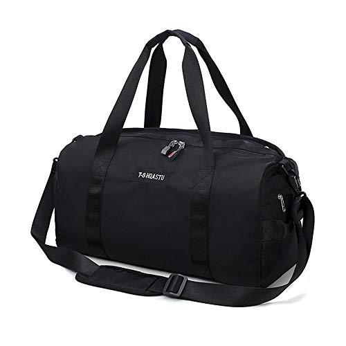 OOOUSE Trocken-Nass-Trenntasche, Wasserdichte Schwimm-Sporttasche mit Schuhfach, Reisetasche für Outdoor-Sportarten Schwarz