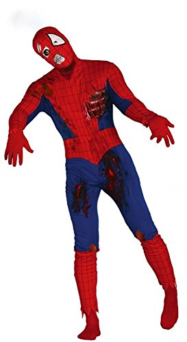 Zombie Spider-Man Herren-Kostüm Gr. M/L Halloween Superhero Hero Held Comic (Kostüme Spiderman Zombie)