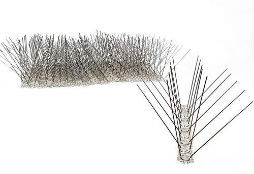 5 Meter Vogelabwehr, Taubenabwehr - 20 St. x 25 cm Lange Leiste mit 4 Reihen Edelstahlspitzen