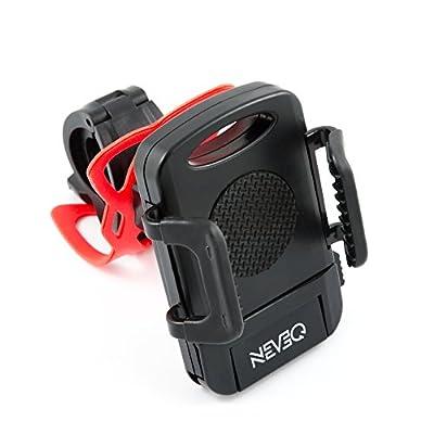 LG G2 Fahrradhalterung NEVEQ. Einstellbare Handyhalterung mit Universalklemmhalterung. Frei drehbar um 360 Grad (Multi-Winkel) und mit Gummibandsicherung.