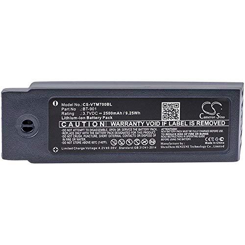 Ghpter-bar Barcode, Scanner-Batterie Li-Ion-Barcode-Scanner-Batterie des 2500mAh / 9.25Wh 3.7V kompatibel für Vocollect passt nachfüllbare vorbildliche A700 / A710 / A720-Zellen A710 Batterie