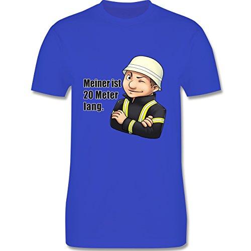 Feuerwehr - Feuerwehrmann - Meiner ist 20 Meter lang. - Herren Premium T-Shirt Royalblau