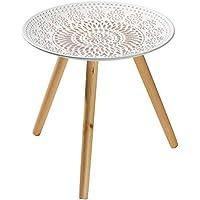 Cepewa Mandala - Mesa auxiliar (madera, tablero de madera DM, 45 x 41 cm)