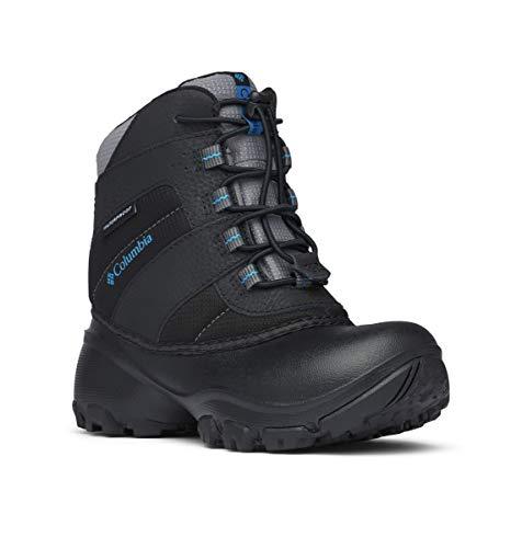 Columbia Rope Tow III Waterproof, Botas de Nieve para Niños, Negro Black, Dark Com, 36 EU