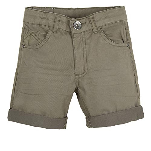 3 pommes 3n25105 bermudas, pantaloncini bambino, verde (kaki green 56) 2-3 anni (taglia produttore: 2a/3a)