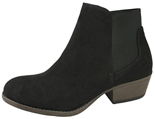 Lora Dora Womens Chunky Block Heel Chelsea Ankle Boots Size UK 4-8