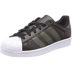 Adidas Originals Superstar, Zapatillas Unisex Niños, Negro (Core Black/Core Black/FTWR White), 36 2/3 EU
