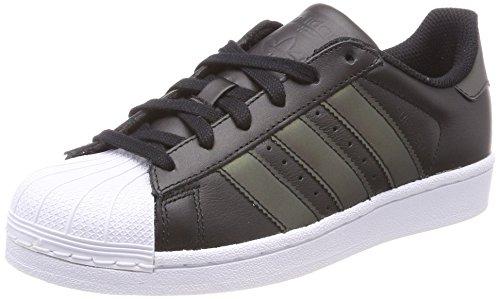 Adidas superstar j, scarpe da fitness unisex-adulto, nero (negbas/negbas/ftwbla 000), 38 2/3 eu