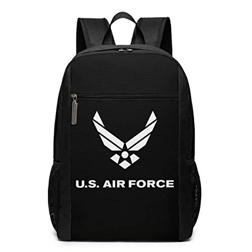 Schultasche Travel Daypack, Air Force Symbol Backpacks Travel School Large Bags Shoulder Laptop Bag for Men Women Kids -