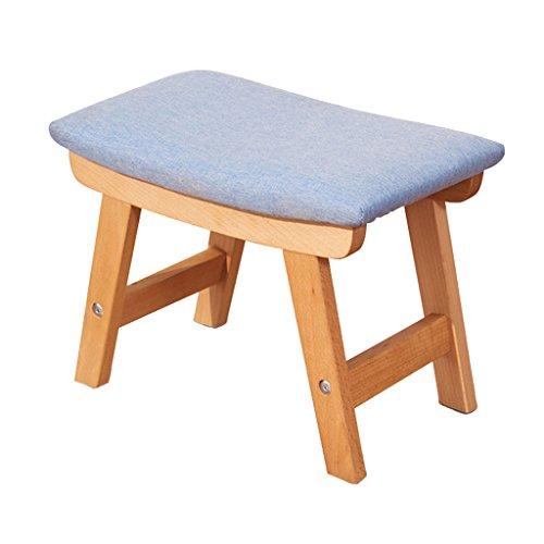 YAnFAn & Taburetes Otomanas Reposapiés Cómoda Reposapiés tapizado Puf otomana Luxury Wood Elegantemente Curvo Rest Chair Living Room Bedroom Blue para Hogar y Comercial