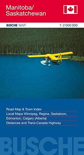 Manitoba / Saskatchewan 1 : 2 000 000. Straßenkarte par Yuri Ivanovich Manin