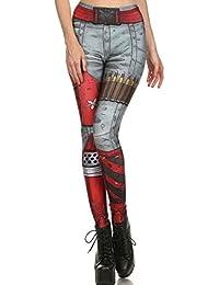 Belsen - Legging - Femme multicolore Deadpool M cd5c7a4c47b2