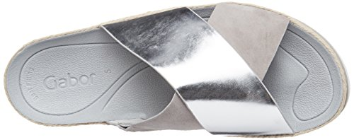 Gabor Shoes Fashion, Ciabatte Donna Grigio (silber/grau 61)