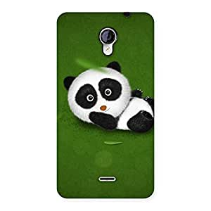 Delighted Panda Green Grass Back Case Cover for Micromax Unite 2 A106