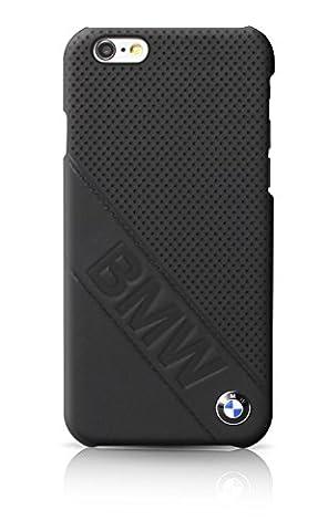 BMW BMHCP6LDLB Coque pour iPhone 6/6S Motif Slanted Logo Noir