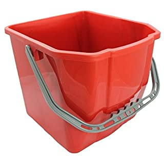 AVIVA CLEAN® Eimer 25 Liter Farbe Rot geeignet für Doppelfahrwagen