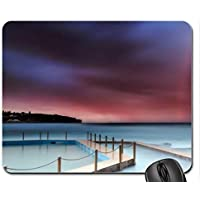 Great Rainbow over Salt Water Coastal Pool mouse pad, Mousepad (rainbows mouse pad) - Arcobaleno Piscine