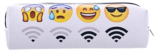 Kukubird Divers Imprimer Pencil Case Avec Sac À Poussière Kukubird Emoji Wifi