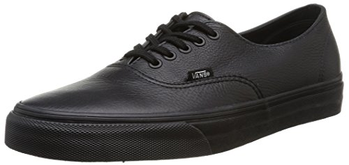 Vans U Authentic Decon Leather Unisex Adults' Low-Top Sneakers , Black (black/black) 6 UK (39 EU)