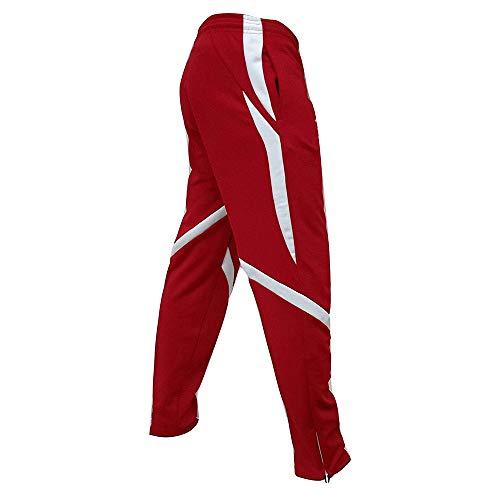 UJUNAOR Herren Sport Freizeithose Sweatpants Strandhosenmit Regular Fit Männer Gym Trainingshose Jogging-Hose Outdoorhose Freizeithose Anglerhose(Rot,EU 50/CN XL)