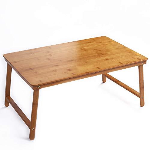 Zhuozi FUFU Wandhalterung Bett Tablett Tisch mit klappbaren Beinen, serviert Frühstück im Bett oder Verwendung als TV-Tisch, Snack-Tablett mit 100% natürlichen Bambus Drop-Blatt-Tabelle