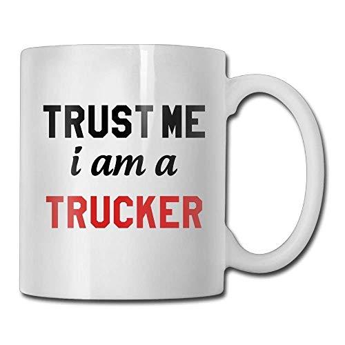LINGJIE Strong Stability, Anti-Breaking, Trust Me I Am Trucker Custom Coffee Kaffeebecher 11 Oz Dad...