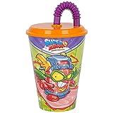 2740; vaso con caña Superzing; producto de plástico; reutilizable; libre BPA; capacidad 430 ml
