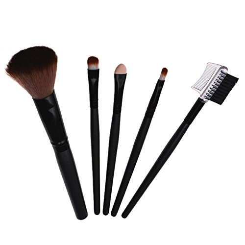 Pinceaux Maquillage Makeup brushes set, Koly 5 Pcs Maquillage Outils Brush Set Maquillage Trousse De Toilette Laine Maquillage Brush Set