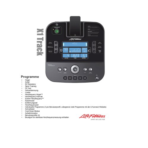 X1 track Crosstrainer Life Fitness Modell 13/14 – Inkl. Vario Sling Trainer - 2