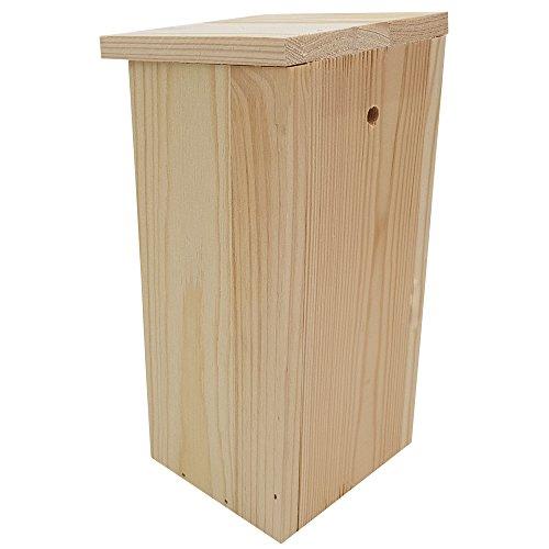 PROHEIM Nistkasten Compact 4er Pack 22 x 9 x 10 cm aus FSC Holz Nisthaus perfekt für Meisen Kohlmeisen Kleiber Rotschwänzchen und weitere Vogelarten Vogelnistkasten - 5