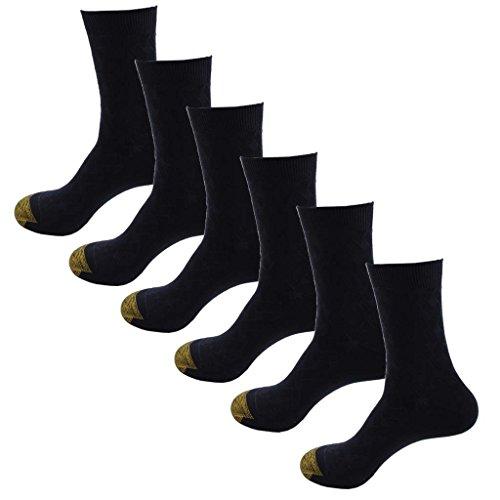 HOEREV de bambú fibra respirable diario calcetines de los hombres, Pack de 6