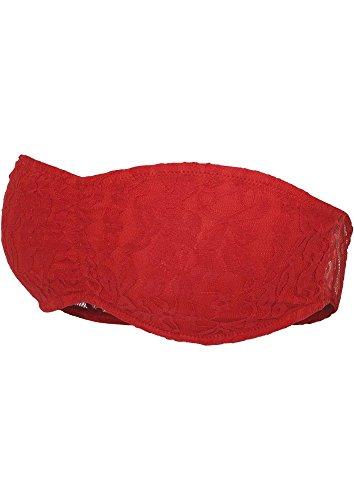 TB586 Ladies Laces Bandeau Red