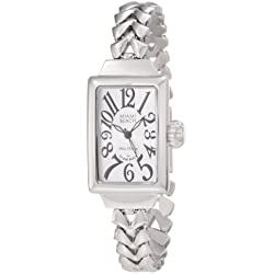 Glam Rock Miami Beach Art Deco Damen Mineral Glas Uhr MBD27036