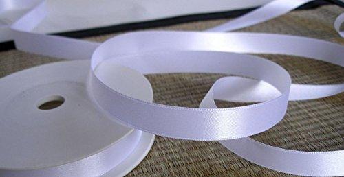 (Nastro Raso Doppio) Nastro Bianco 25 M X 10 Mm Decorativo