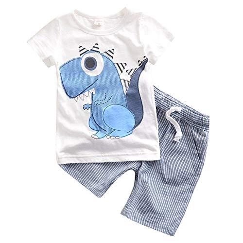 KOKOUK ❤️Junge Mädchen Baby Outfits Kleidung InfantStar Gedruckte Baumwolle Lange Ärmel T-Shirt - Gedruckt Flanell-hose