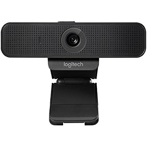 Logitech C925E Pro - Cámara web (Full HD 1080p, enfoque automático, USB, micrófonos omnidireccionales) color