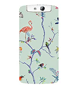 printtech Jungle Wild Design Back Case Cover for Oppo N1