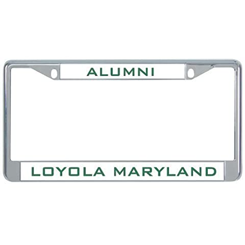 IMG Loyola (Md) Metal License Plate Frame in Chrome Alumni