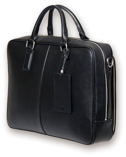 BfB Laptop Messenger Schultertasche für Herren - Designer Businesstasche Laptoptasche oder Aktentasche - Ideal für Arbeit und Reisen - SCHWARZ by My Best Friend Is A Bag (Prada Nylon Messenger)