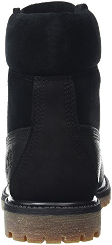 Timberland 6 In Premium_6 In Premium_6in Premium Double D-ring, Bottines à doublure froide femme Noir - Schwarz (Black Waterbuck)