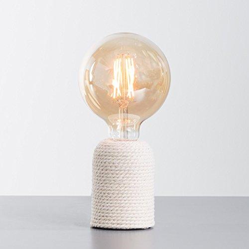 Lámpara mesa, 1x E27Max. 40W, hormigón/cuerda