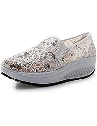 Fuxitoggo Scarpe da donna glitter con lacci e scarpe da ginnastica in mesh  (Colore   f1208a580d6