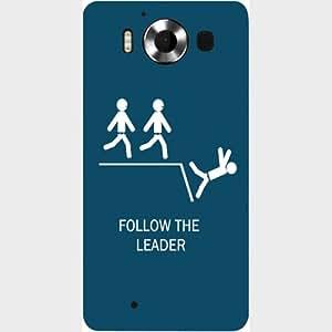 Casotec Follow The Leader Design Hard Back Case Cover for Microsoft Lumia 950