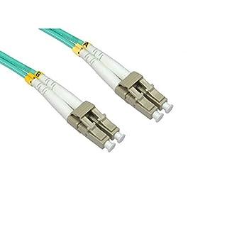 Bluecharge Direct 3m OM4 Fibre Optic Cable Duplex Network Patch Lead LSZH LC to LC Multi-Mode Aqua