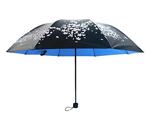 Cerise Effacer Umbrella Trois Pliant Sun Parapluies Vinyl Sun Umbrella