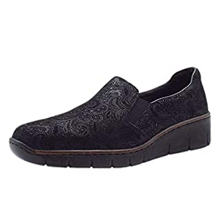 Rieker Melgar Womens Casual Shoes 6/39 Black Print