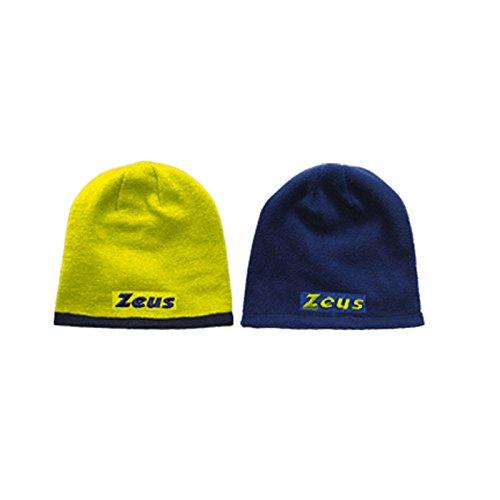 Zeus Cappello Reversibile Doubleface Giallo-Blu Taglia Unica