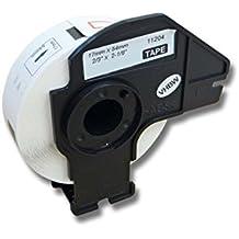 vhbw Etikettenband Beschriftungsband Premium 17mm für Brother P-Touch QL-500, QL-500A, QL-500BS, QL-500BW, QL-550, QL-560, QL-560VP wie DK-11204.