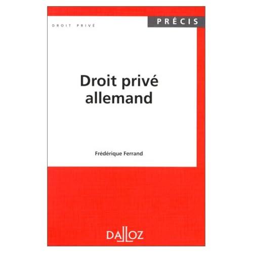 Droit privé allemand